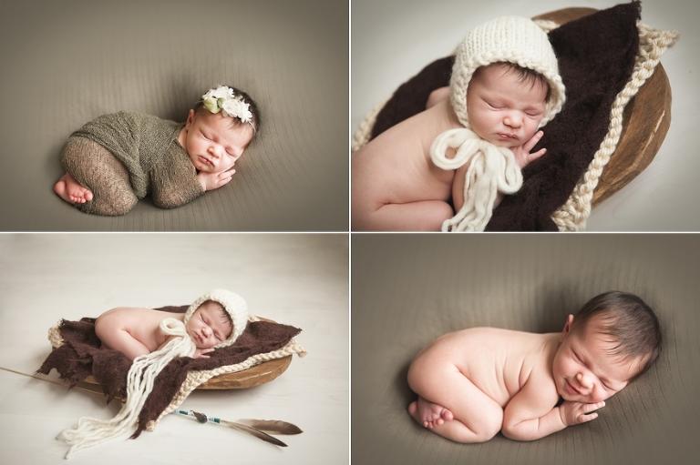 newborn photos with little arrows