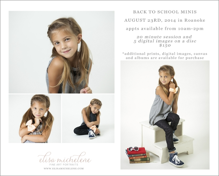 back to school mini sessions