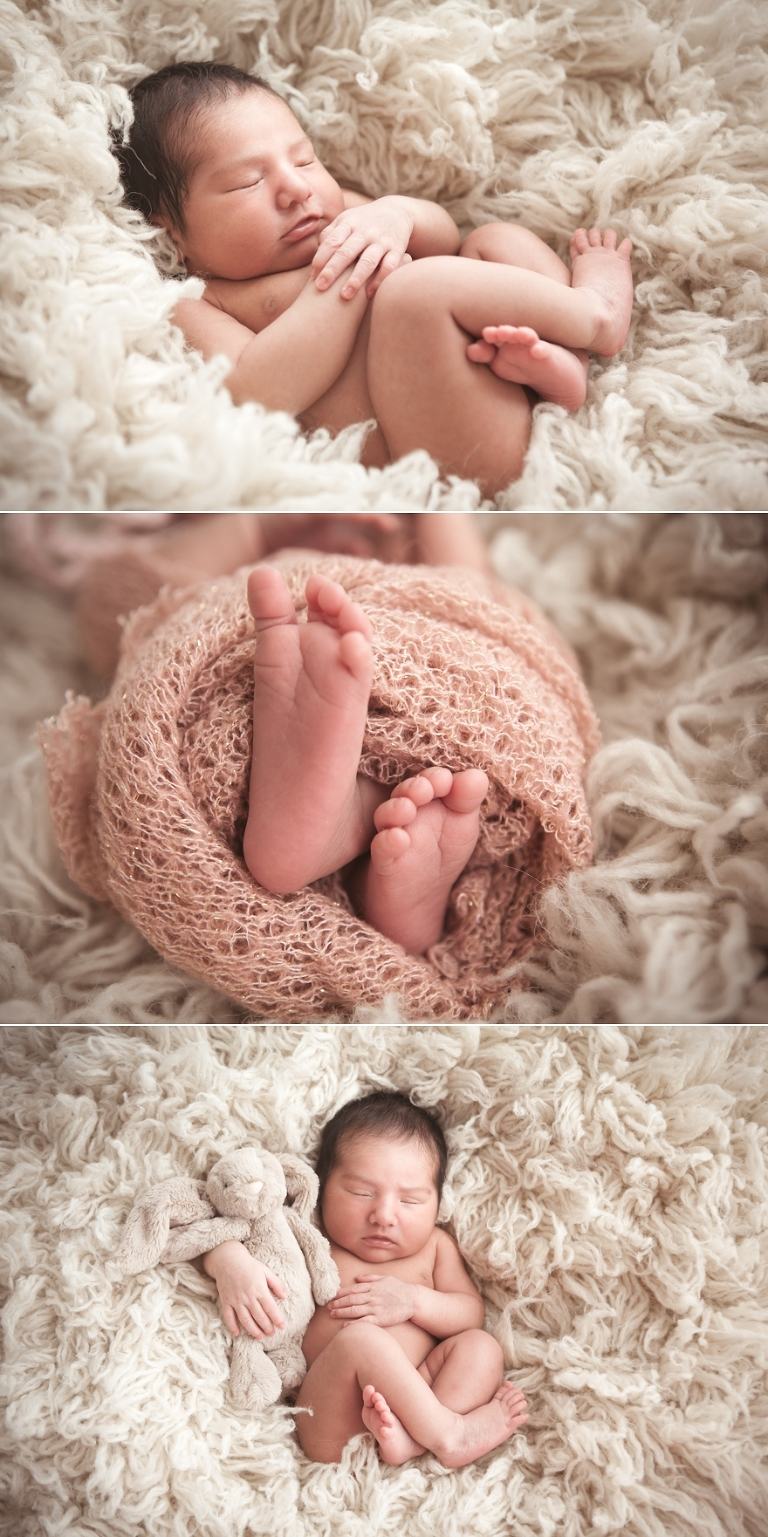 studio newborn photography with an all white background