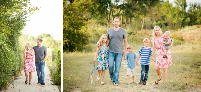 family portraits in a field in roanoke tx