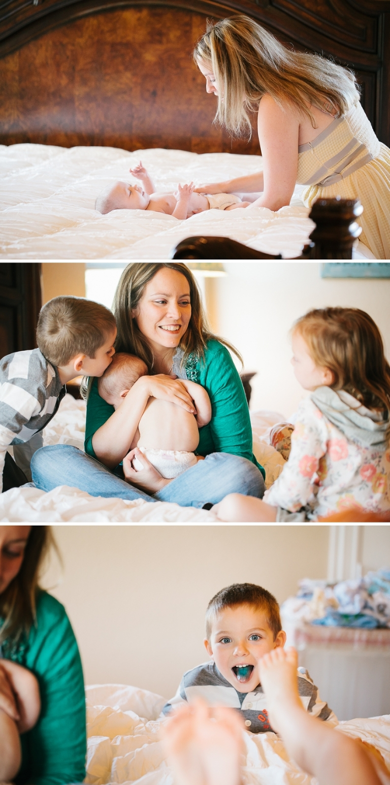 family portraits in your home with a newborn