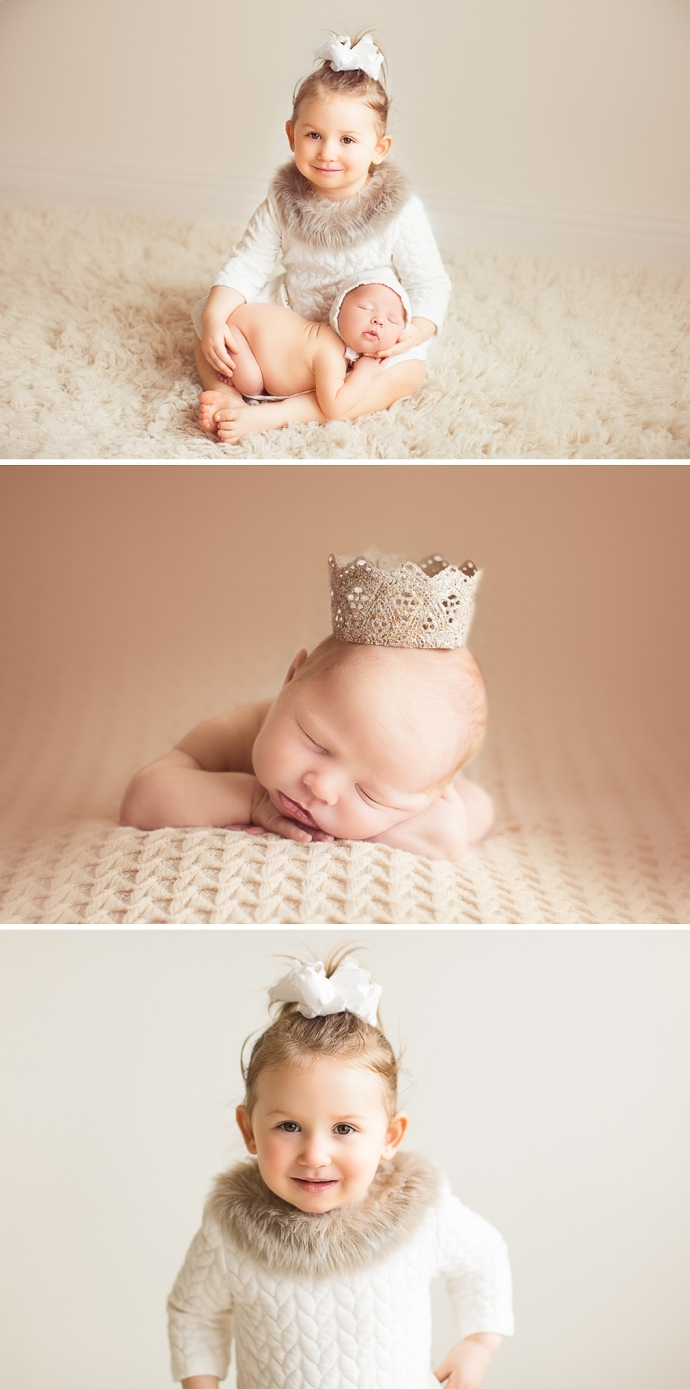 newborn photos with baby as art nest
