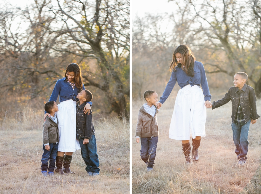 outdoor family photo session in dallas fort worth