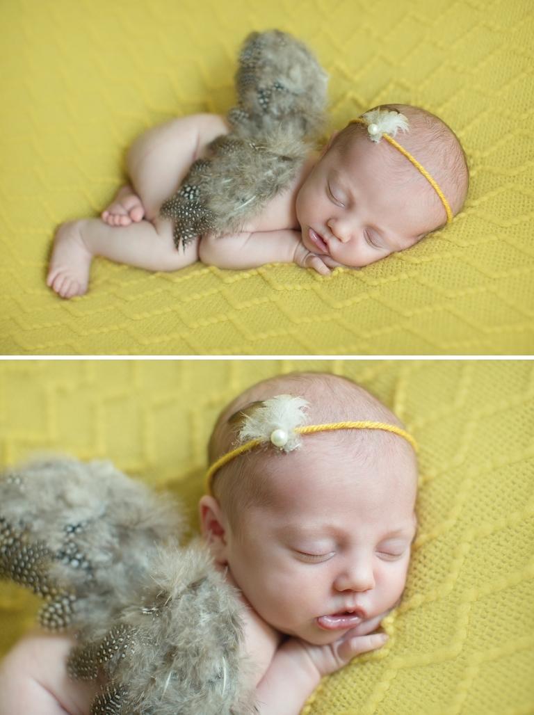 newborn photos with yellow