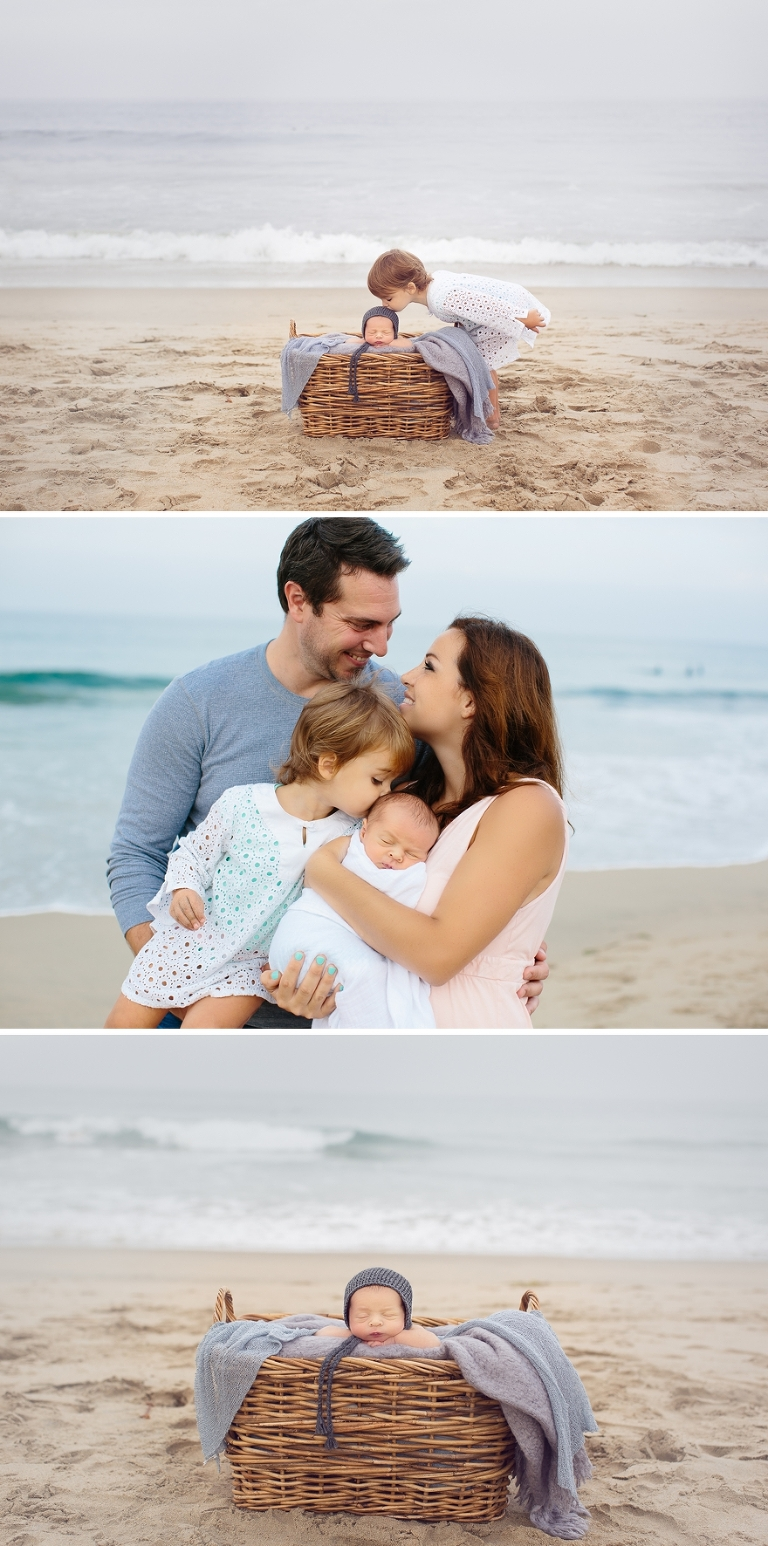 Beach newborn session