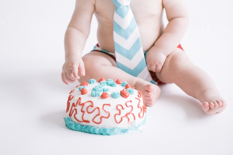 cake smash ideas with chevron ties
