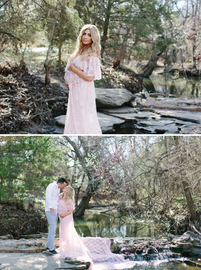 peach maternity dress