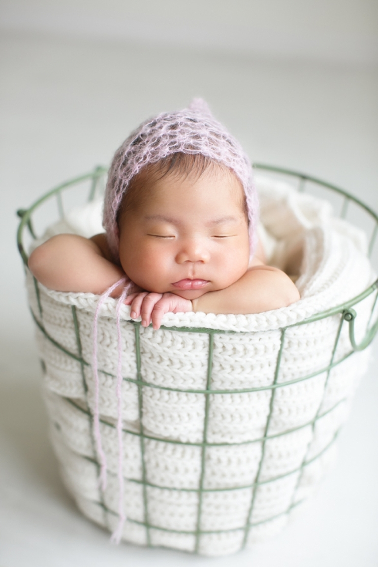 white newborn session in fort worth